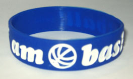I am basket ball silicone wristband