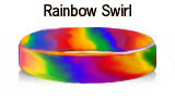 Rainbow Swirl rubber bracelets